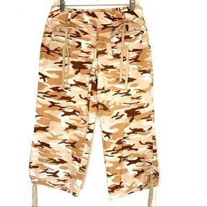 Cato Desert Camouflage Capri Pants.